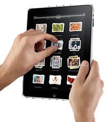 iPad används för att bläddra i fotoalbum