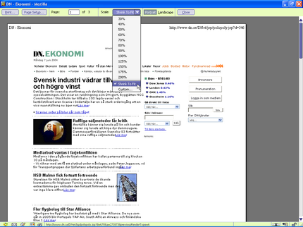 Utkrifter i Mozilla
