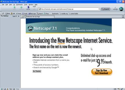 Netscapes startsida