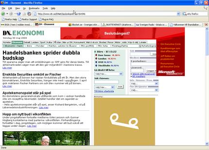 Firefox gränssnitt
