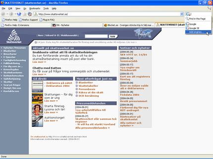 Firefox sökfält