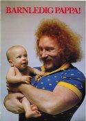 Hoa-Hoa Dahlgren gör reklam för pappors barnledighet